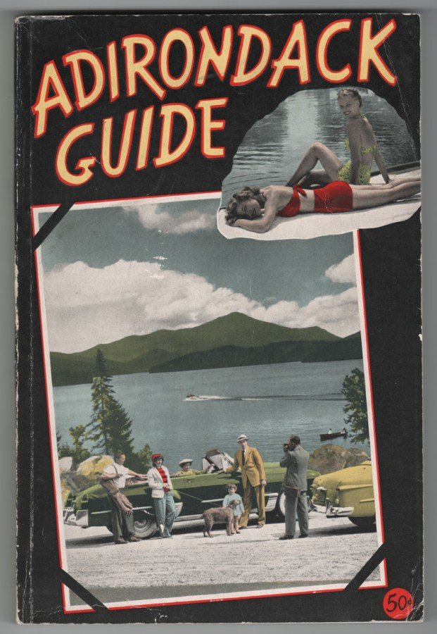 Cover of 1949 Adirondack Guide that feature Essex and Willsboro, and that includes a Sherwood Inn advertisement. (Source: Adirondack Guide via David Brayden)