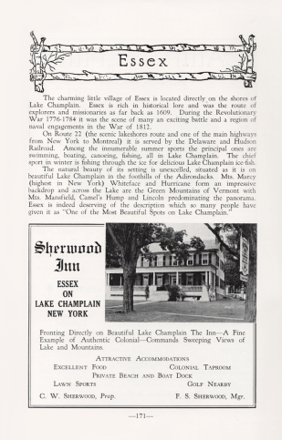 Feature on Essex, NY in 1949 Adirondack Guide. (Source: Adirondack Guide via David Brayden)