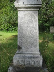 George D. Anson grave in Essex, NY (Source: Heidi McColgan via findagrave.com)