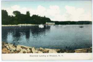 Steamboat Landing at Westport, NY circa 1907 (Source: vintage postcard)