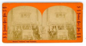 Steamer Vermont Stereoview, photographed by S.R. Stoddardc. 1870