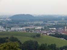 Blick auf das neue Wahrzeichen von Deggendorf