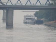 Donau-Schiff an der Anlegestelle