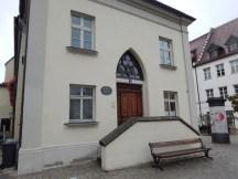 Der Hintereingang des Alten Rathauses