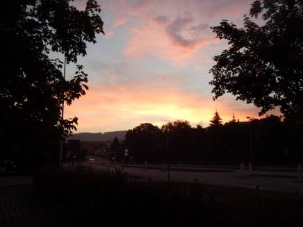 Sonnenaufgang über Deggendorf