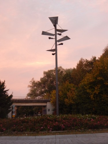 Kreisverkehr am Schulzentrum