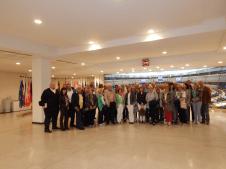 Reisegruppe im Europaparlament
