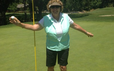 Teddi Swanson shoots her first Hole-in-One