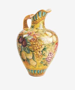 RGIAR004 brocca grande ceramica vietri autunno giallo vietri avossa rossoaltramonto