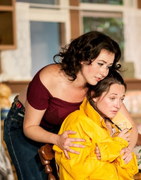 L-R, Chandler Parrott-Thomas as Meg Magrath; Jensen Power as Lenny Magrath