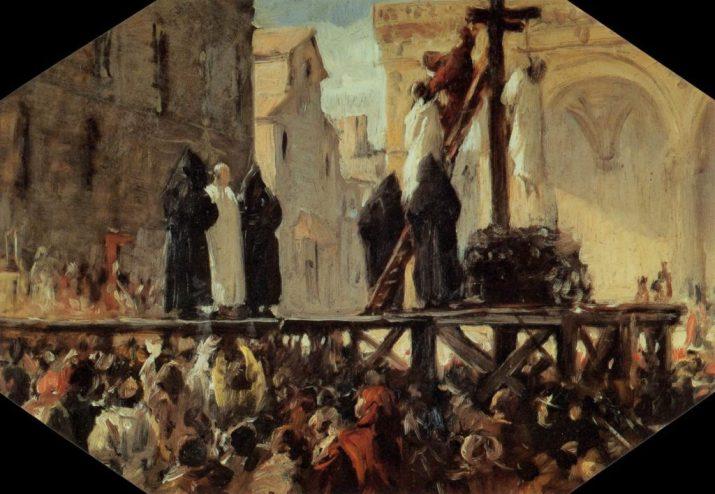 Executarea lui Savonarola, pictura de Stefano Ussi