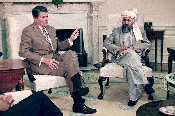 Ronald Reagan - Burhaneddin Rabbani, 1986