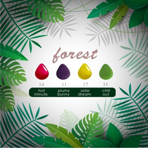 Bunny & Bunny Nail Set - Forest