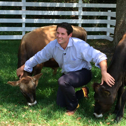 Gary Brode from ABC-7 reported from the farm
