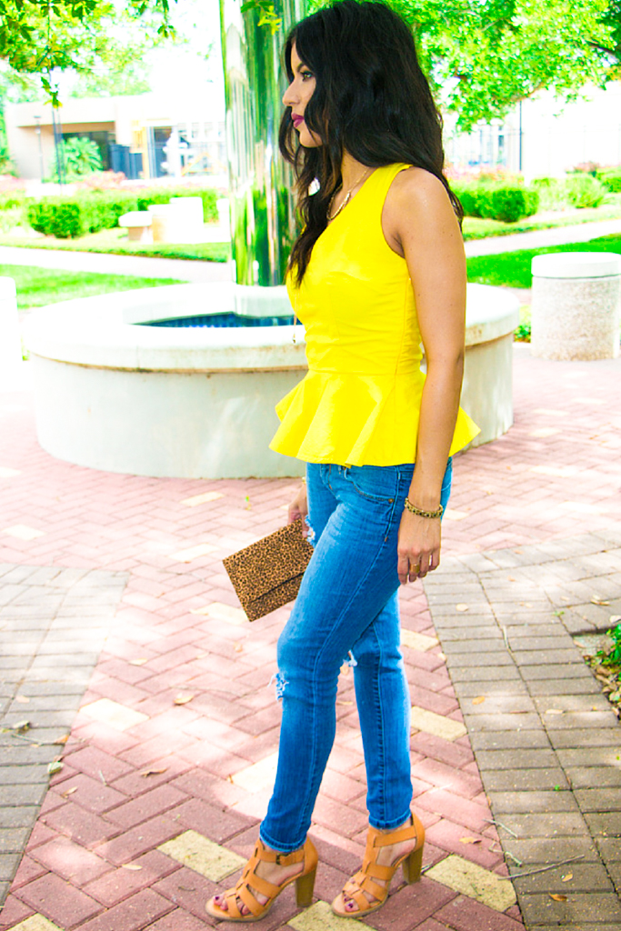 Yellow Peplum Top + Pattern Review: Simplicity 8136- Rosy | Peña