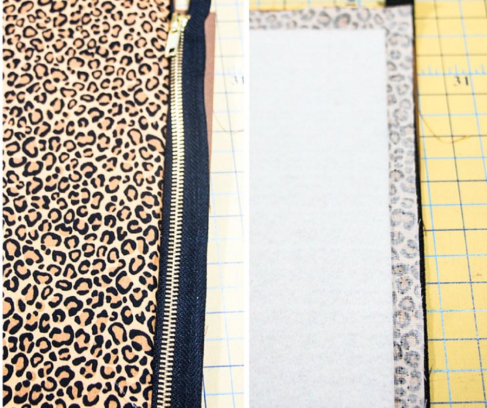 "DIY ""Skinny"" Leopard Clutch Tutorial - Rosy | Peña"