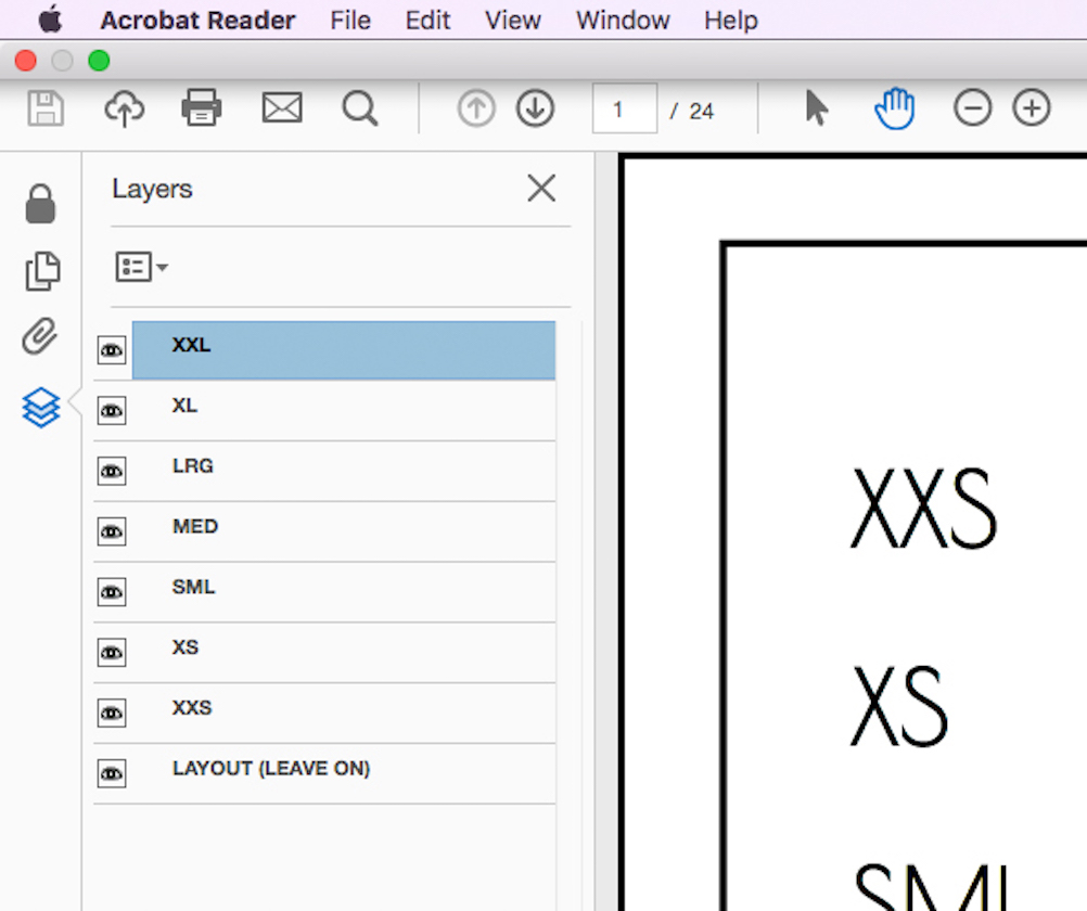 How to print assemble a pdf pattern laura sew along open your 1001 laura print at home file in adobe acrobat reader you will see a layers menu on the left side this is where you can check or uncheck the ccuart Gallery