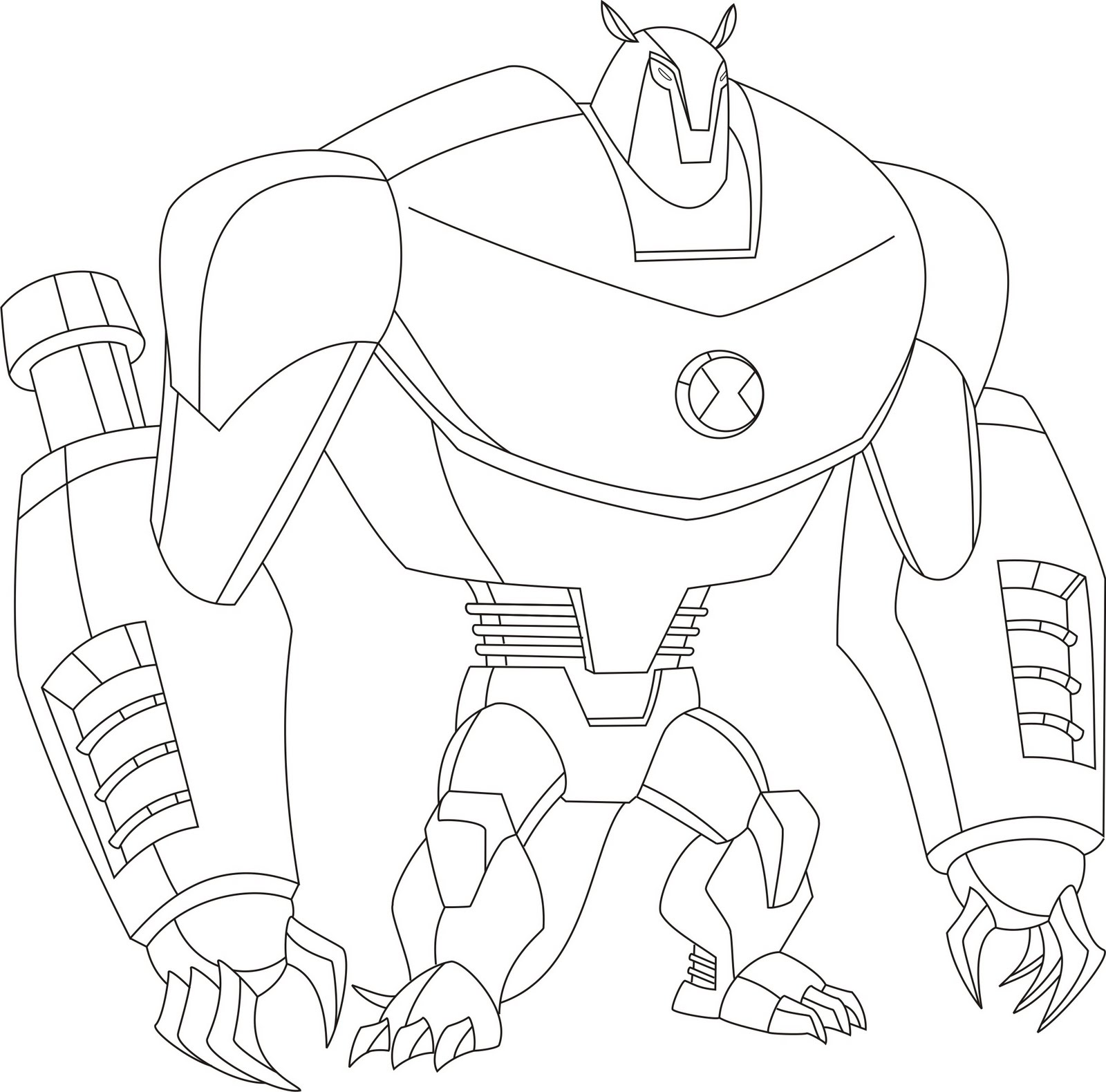 Ben 10 Alien Force Swampfire coloring page | Free Printable ... | 1580x1600