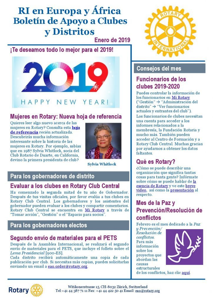 CDS Newsletter 2019 Enero 2019