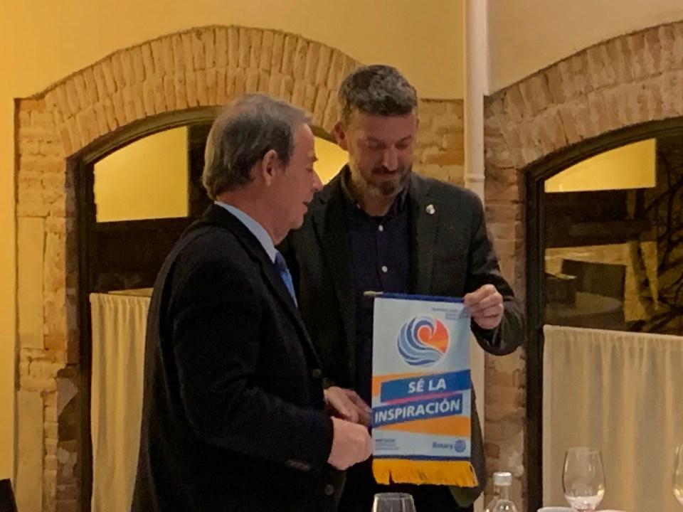 Eduardo Cuello visita el Rotary Club de Vilafranca del Penedès