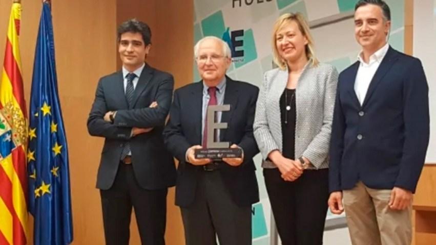 Julio Sopena recibió el Premio Empresa Huesca 2018 (Foto: https://lamusayservicios.concesionario-jd.es).