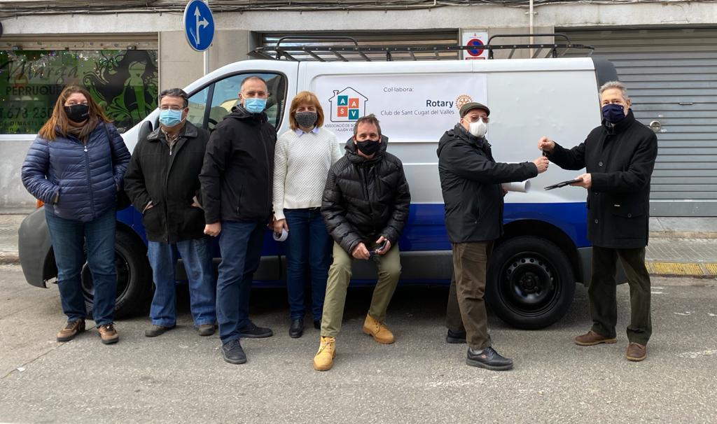 Rotary Club de Sant Cugat del Vallès: furgoneta para ASAV Rubí