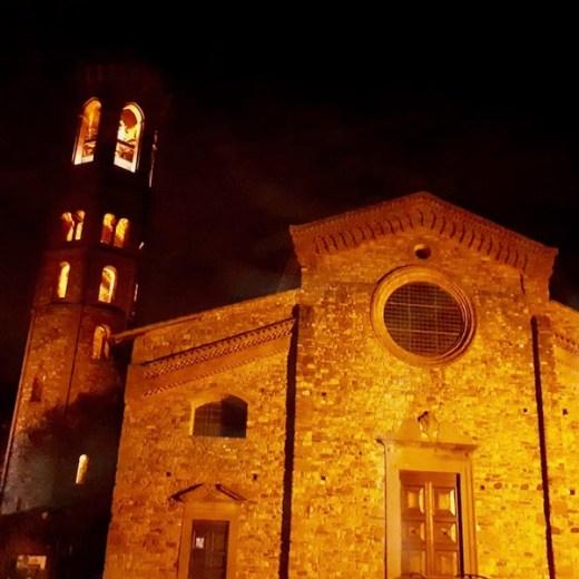 La facciata dell'Abbazia di Badia a Settimo