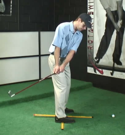 Bad golf swing takeaway to the inside
