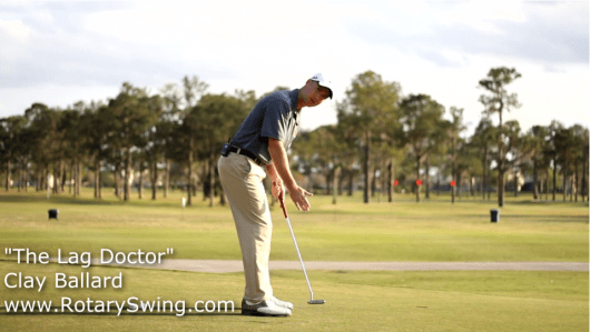 Letting the putter face swing slightly inside and slightly open is crucial  when <a  href=