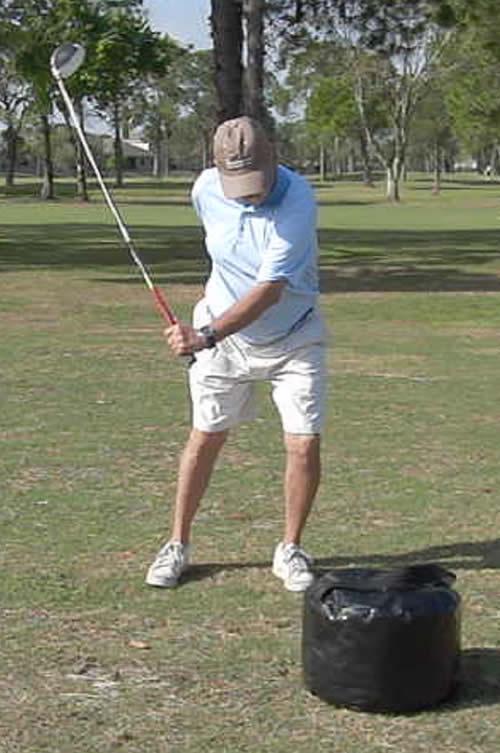 golfer with lots of club head lag