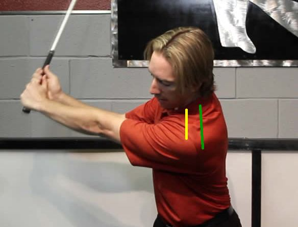 Left Shoulder protraction in the golf swing