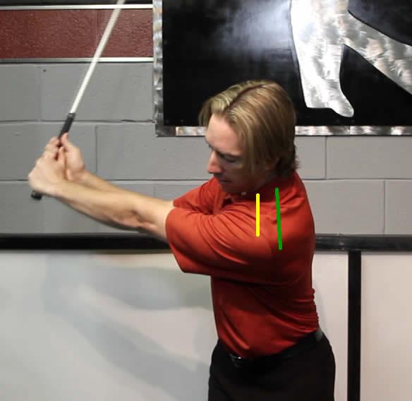 Left Shoulder protraction in the golf swing