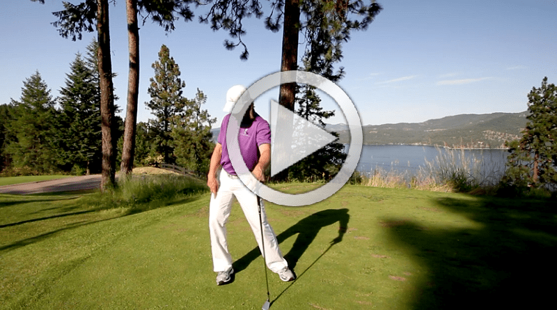 golf setup foot position