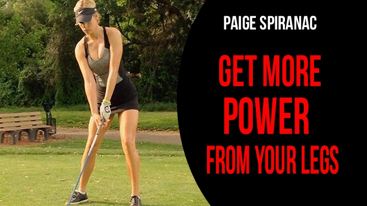 paige spiranac golf swing