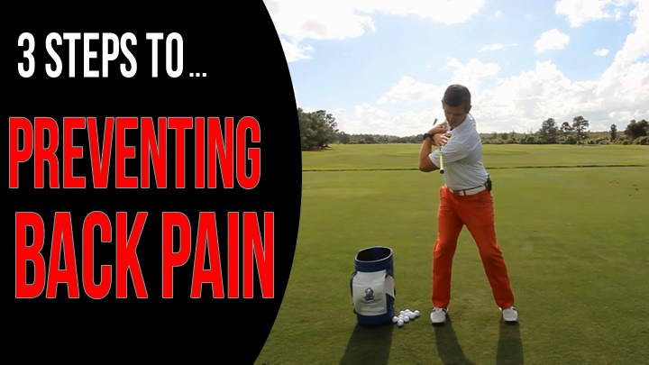 back pain in golf