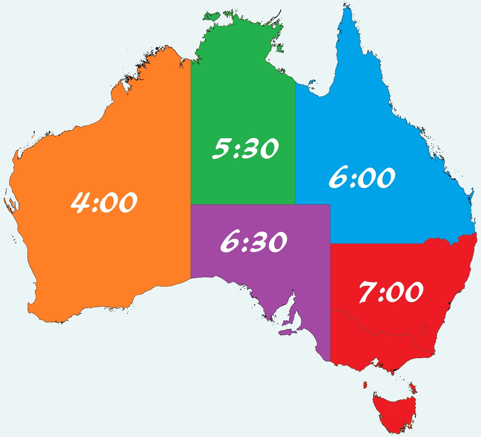 Australia Has Theest Time Zones