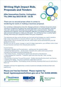 Tendering Workshop 24 Sep 2015