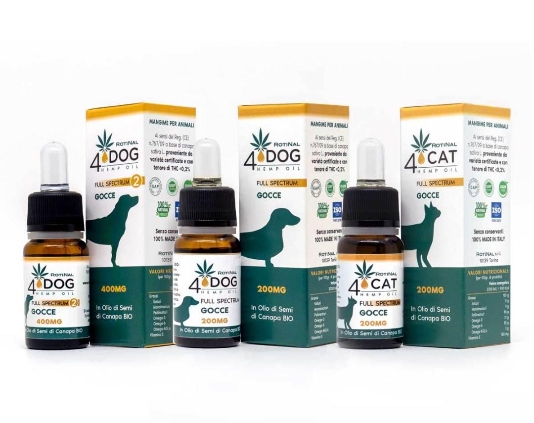 ROTINAL4Pet - Linea completa prodotti per il gatto e per il cane
