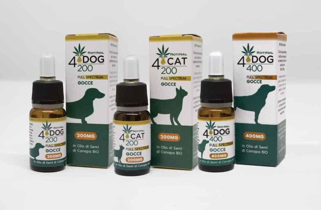 ROTINAL4Pet - mangime complementare a base di Canapa Sativa L. studiato per il benessere del cane e del gatto., cbd, benessere degli animali, Olio di canapa per animali, Antinfiammatorio naturale cane, Antinfiammatorio naturale gatto