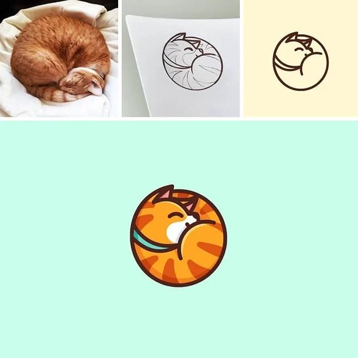 Desenhos fotos feitos de fotos aleatórias