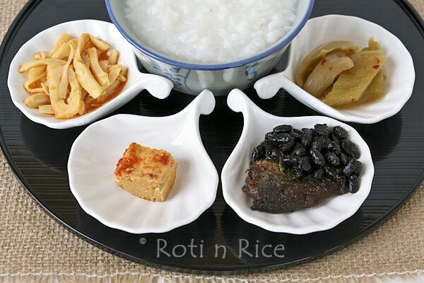 Image result for congee with pickled vegetables