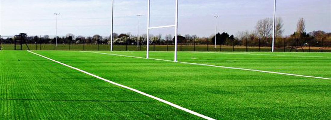 Fleet Line Marking Rugby Pitch