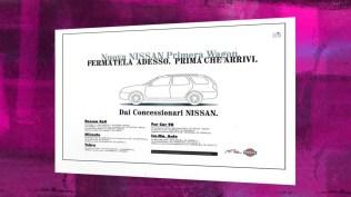 Campagna Nissan Lancio Nuova Primera Station Wagon - Teaser Stampa quotidiana e affissione