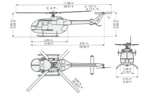 BO105 helicopter specifications