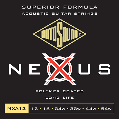 nxa12 Rotosound Nexus Acoustic coated guitar strings long life platinum polymer flattop string