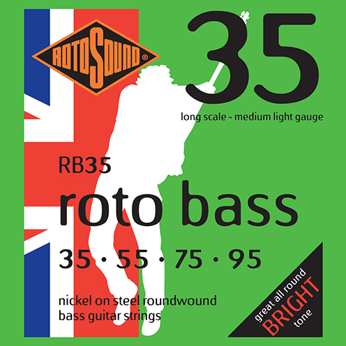 rb35 Rotosound Roto Bass strings. Affordable Steel nickel roundwound round wound swingbass bass wire precision jazz Rickenbacker 4003 John Entwistle bajo guitare rock metal medium light gauge guage regular bright