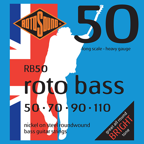 rb50 Rotosound Roto Bass strings. Affordable Steel nickel roundwound round wound swingbass bass wire precision jazz Rickenbacker 4003 John Entwistle bajo guitare rock metal heavy gauge guage regular bright