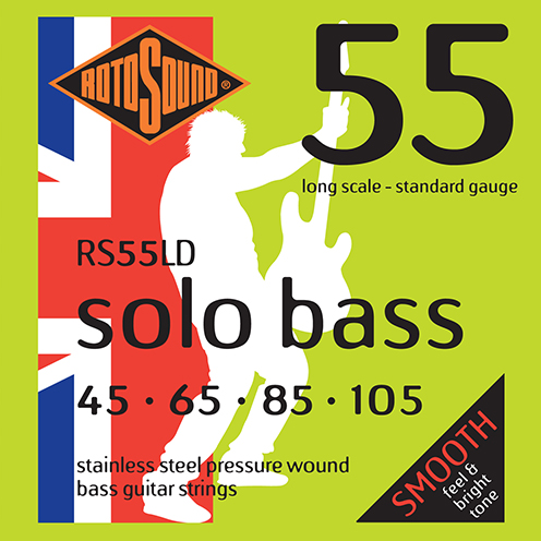 RS55LD Rotosound RS55 LD Solo Bass strings. Pressure wound pressurewound Steel roundwound round wound swingbass bass wire precision jazz Rickenbacker 4003 bajo guitare rock metal standard gauge regular bright