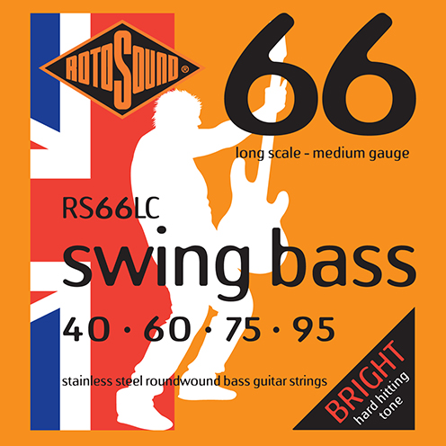 Rotosound RS66 LC Swing Bass strings. Steel roundwound round wound swingbass bass wire precision jazz Rickenbacker 4003 John Entwistle bajo guitare rock metal standard gauge regular bright