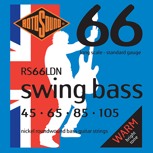 Rotosound RS66 LDN Swing Bass strings. Steel nickel roundwound round wound swingbass bass wire precision jazz Rickenbacker 4003 John Entwistle bajo guitare rock metal standard gauge regular bright